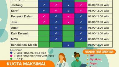 Photo of Penyesuaian Jadwal Poliklinik Terbaru RSUD Taman Husada Bontang