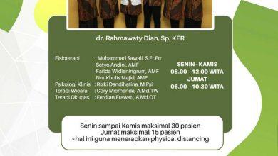 Photo of Jadwal Pelayanan Klinik Rehabilitasi Medik RSUD Taman Husada Bontang
