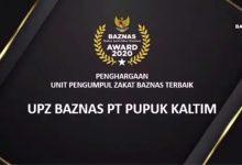 Photo of UPZ Pupuk Kaltim Raih Predikat Terbaik Baznas Award 2020