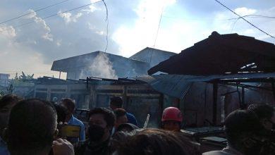 Kebakaran Terjadi di Berbas Tengah, Sejumlah Rumah Dilahap Api dan Warga Dibuat Panik