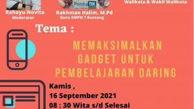 DPK Bontang Gelar Webinar Bertemakan Gadget, Sasar Pelajar SLTP dan SLTA